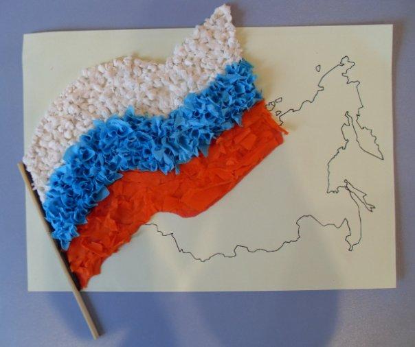 Флаг россии из бумаги